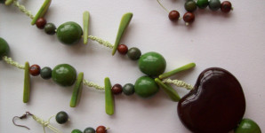 Collar color aguacate